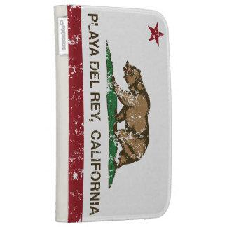 Bandera Playa del Rey de la república de Californi