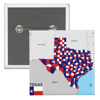 bandera política América de la forma del mapa del  Chapa Cuadrada 5 Cm
