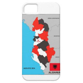 bandera política del mapa del país de Albania iPhone 5 Case-Mate Protectores
