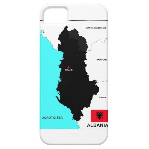 bandera política del mapa del país de Albania iPhone 5 Cárcasas