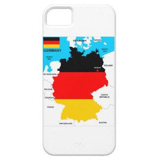 bandera política del mapa del país de Alemania iPhone 5 Carcasa
