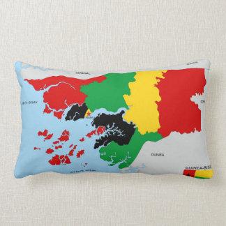 bandera política del mapa del país de almohada