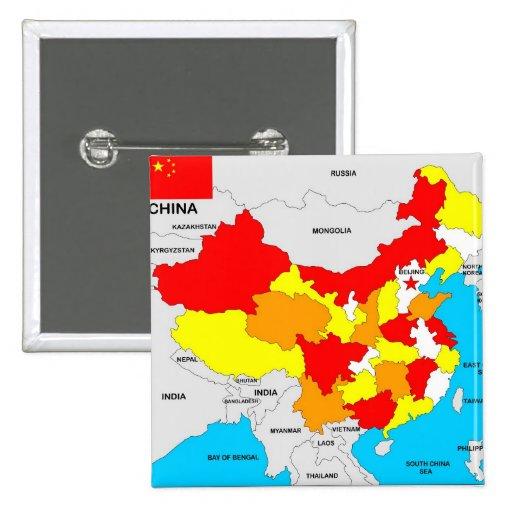 bandera política del mapa del país de China