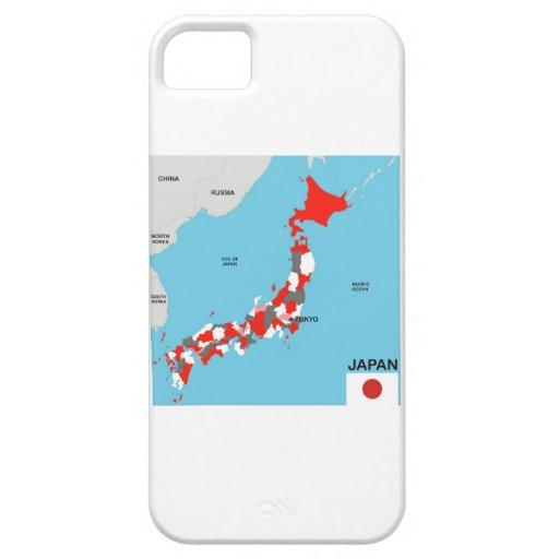 bandera política del mapa del país de Japón iPhone 5 Case-Mate Funda