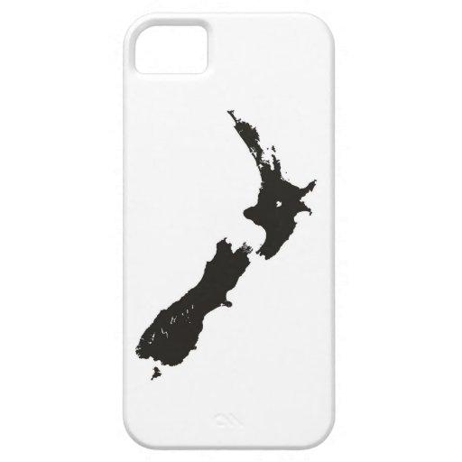bandera política del mapa del país de Nueva Zeland iPhone 5 Funda