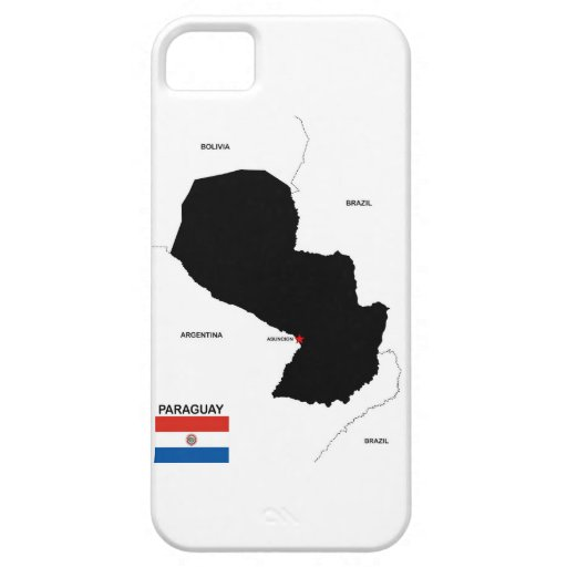 bandera política del mapa del país de Paraguay iPhone 5 Case-Mate Cobertura