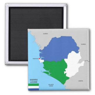 bandera política del mapa del país de Sierra Leona Imán