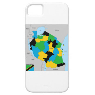 Bandera política del mapa del país de Tanzania iPhone 5 Case-Mate Cárcasa