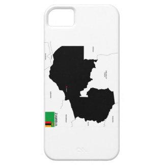 bandera política del mapa del país de Zambia iPhone 5 Cárcasa