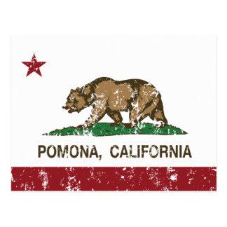 Bandera Pomona del estado de California Postal