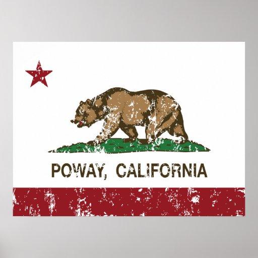 Bandera Poway del Stat de California Impresiones