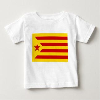 Bandera protagonizada rojo de Cataluña Camiseta De Bebé