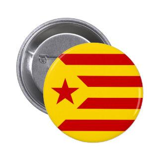 Bandera protagonizada rojo de Cataluña Chapa Redonda De 5 Cm