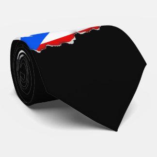 Bandera puertorriqueña clásica corbata personalizada
