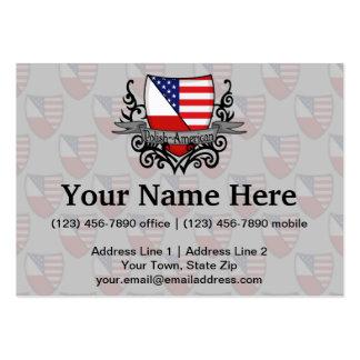 Bandera Pulimento-Americana del escudo Tarjetas De Visita Grandes