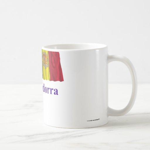 Bandera que agita de Andorra con nombre Tazas De Café