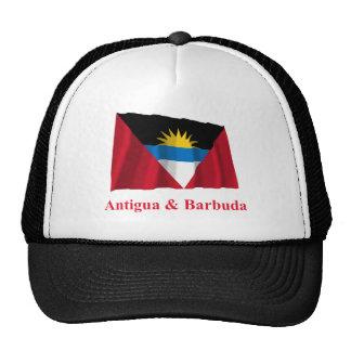 Bandera que agita de Antigua y de Barbuda con nomb Gorra