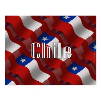 Bandera que agita de Chile Postal