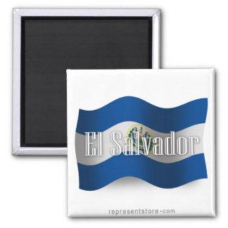 Bandera que agita de El Salvador Iman