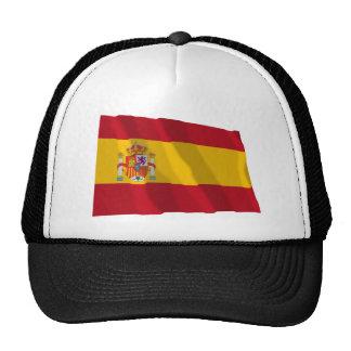 Bandera que agita de España Gorros Bordados