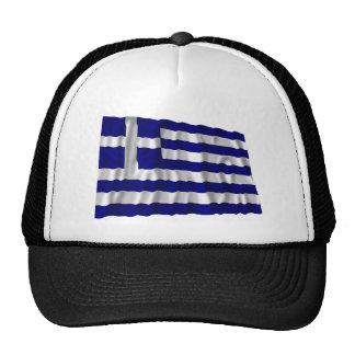 Bandera que agita de Grecia Gorras De Camionero