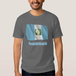 Bandera que agita de Guatemala con nombre Camisetas