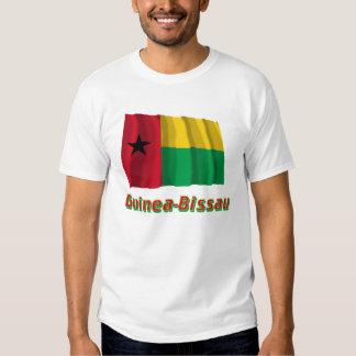 Bandera que agita de Guinea-Bissau con nombre Camisas