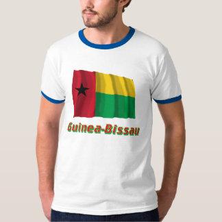 Bandera que agita de Guinea-Bissau con nombre Camisetas