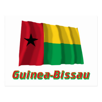 Bandera que agita de Guinea-Bissau con nombre Postal