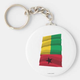 Bandera que agita de Guinea-Bissau Llavero Redondo Tipo Chapa
