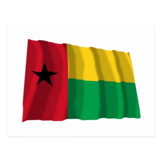 Bandera que agita de Guinea-Bissau Postal
