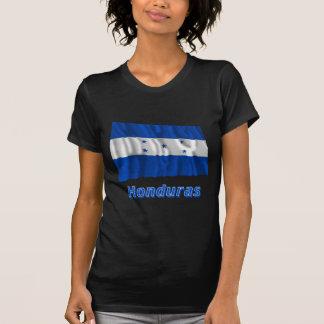 Bandera que agita de Honduras con nombre Camiseta