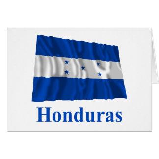 Bandera que agita de Honduras con nombre Tarjeta De Felicitación