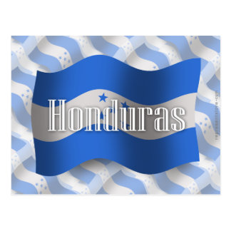 Bandera que agita de Honduras Postal