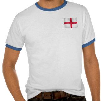 Bandera que agita de Inglaterra Camisetas