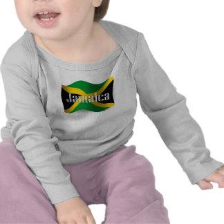 Bandera que agita de Jamaica Camiseta
