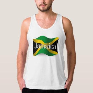 Bandera que agita de Jamaica Camiseta De Tirantes