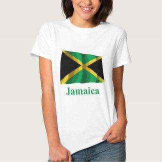 Bandera que agita de Jamaica con nombre Camisas