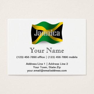 Bandera que agita de Jamaica Tarjeta De Negocios
