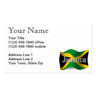 Bandera que agita de Jamaica Tarjetas De Visita