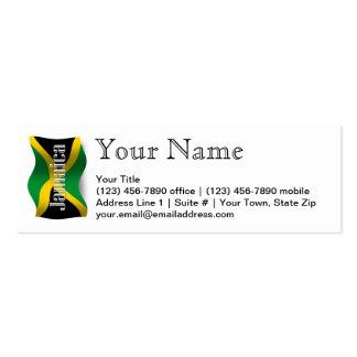Bandera que agita de Jamaica Tarjetas De Visita Mini