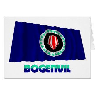 Bandera que agita de la región autónoma de Bougain Felicitacion