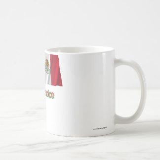 Bandera que agita de México con nombre Taza De Café