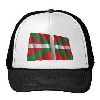 Bandera que agita de País Vasco (Euskadi) Gorros Bordados