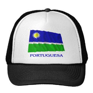 Bandera que agita de Portuguesa con nombre Gorros