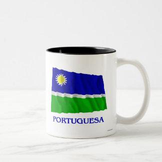 Bandera que agita de Portuguesa con nombre Tazas
