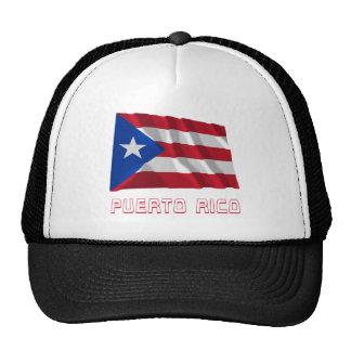 Bandera que agita de Puerto Rico con nombre Gorra