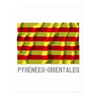 Bandera que agita de Pyrénées-Orientales con nombr Postal