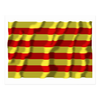 Bandera que agita de Pyrénées-Orientales Tarjetas Postales