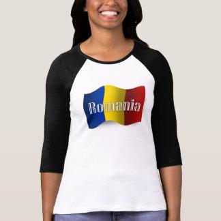 Bandera que agita de Rumania Camiseta